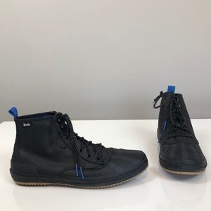 Ked's Black & Blue Striped Scout Boot Splash Kicks